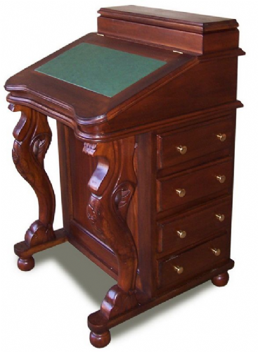 Davenport in Mahogany with Leather Choices